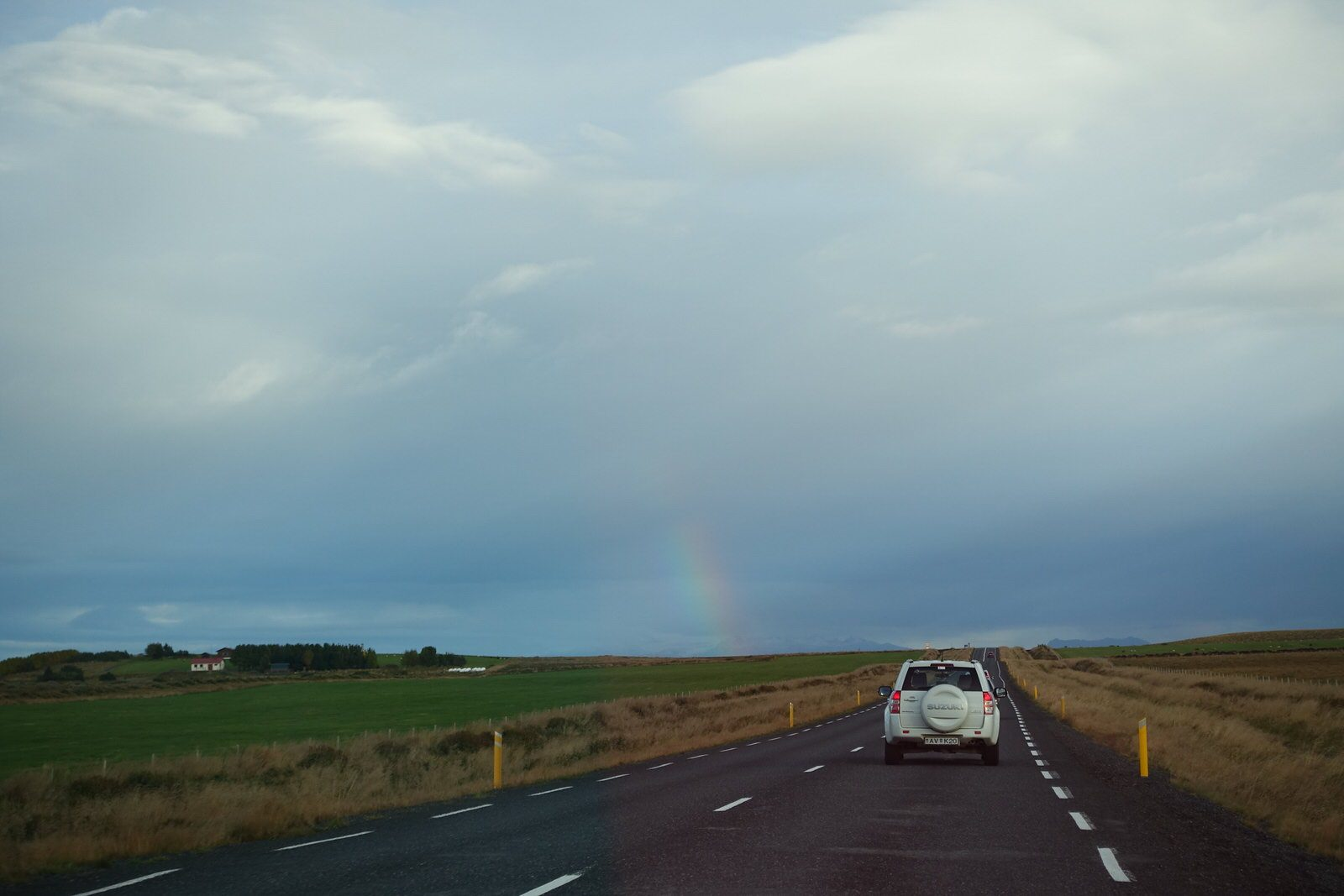 iceland ring road rainbow