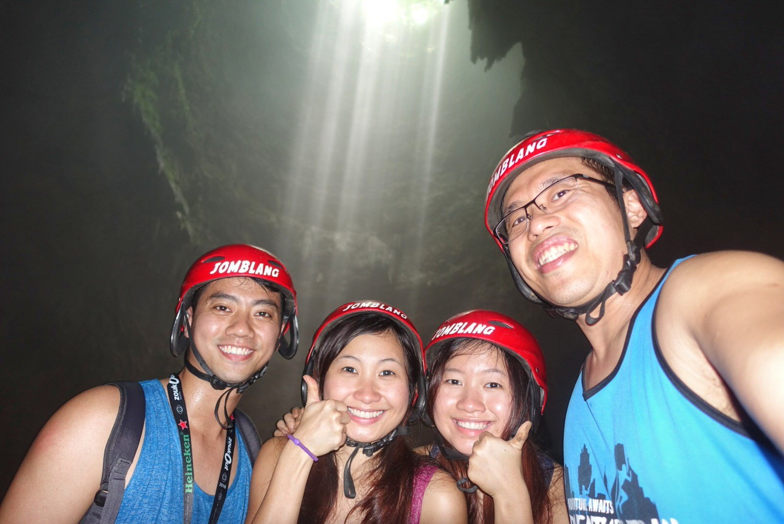 jomblang cave heavenly light welfie