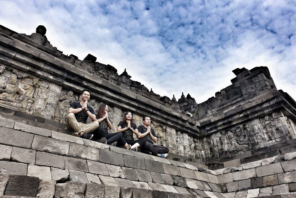 Borobudur Ancient Temple Pray